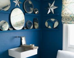 Синяя ванная – царство водной стихии в интерьере