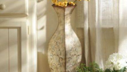 Напольные вазы как элемент декора
