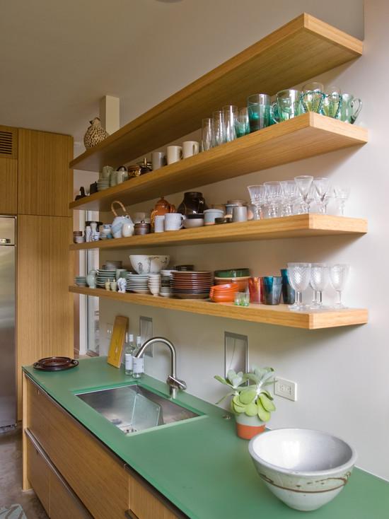 Открытые полки на кухню своими руками фото