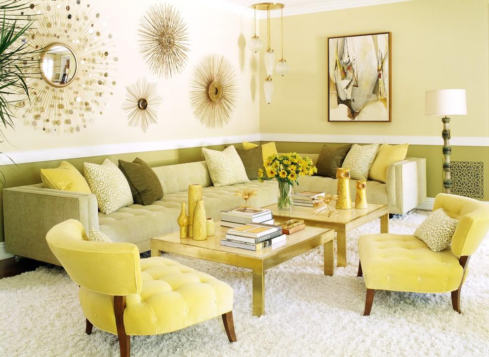 Сочетание цветов в гостиной