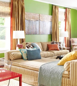 green-color-living-room3