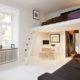 Кровать под потолком – новое слово в оформлении интерьера
