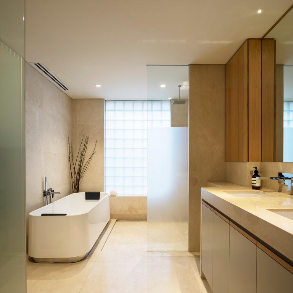 Дизайн гостиной, совмещенной с кухней   Идеи и фото 2016 ...