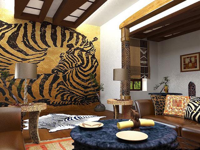 Фото дизайн интерьера в африканском стиле