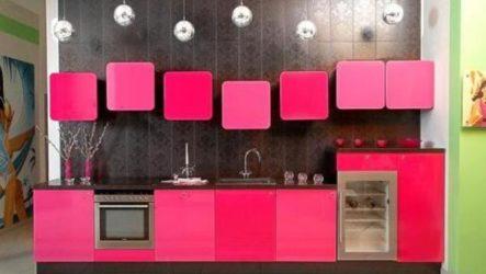 Розовая кухня – веяние современности