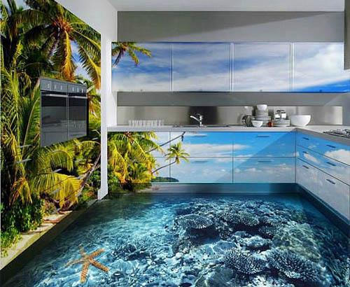 наливные полы с 3D эффектом