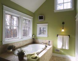 Зеленая ванная комната – оазис релакса