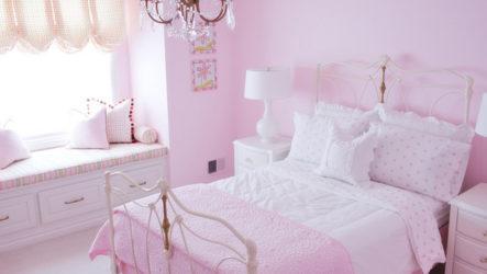 Розовая детская – интерьер сказки