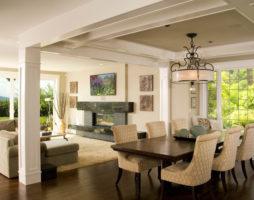 Принципы оформления столовой гостиной