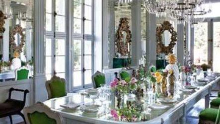 Зеркальная плитка в жилом интерьере