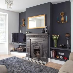 Black-dramatic-living-room