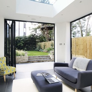 Modern-conservatory-with-bi-fold-doors