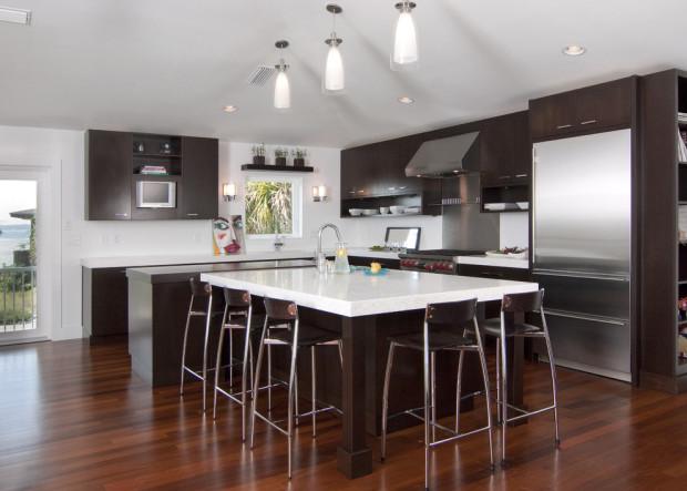 кухни коричневого цвета