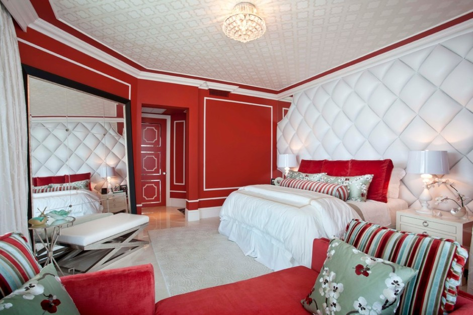 Red And Gold Bedroom And Lovely Red And Grey Bedroom Ideas