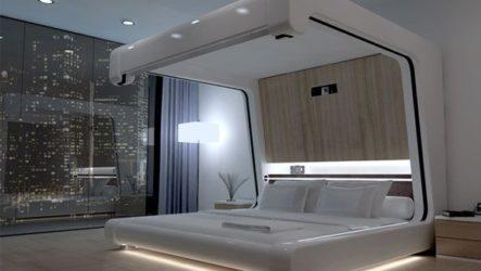 Стиль хай-тек в спальнях