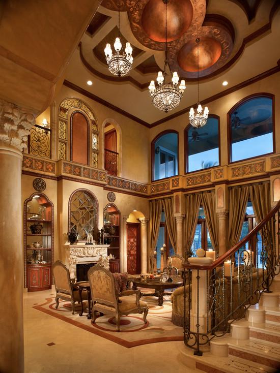 гостиная в итальянском стиле