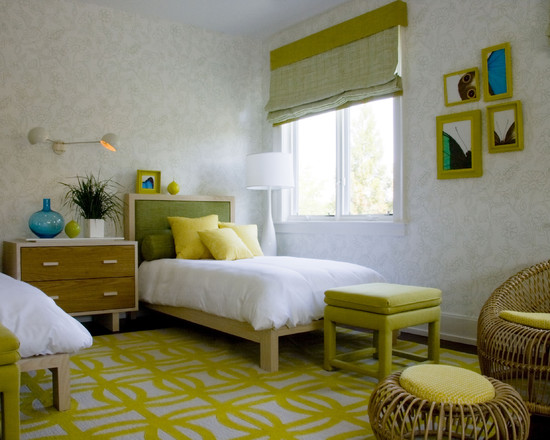 детская комната в зеленых тонах