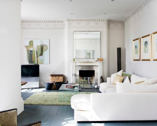 белый цвет в интерьере гостиной