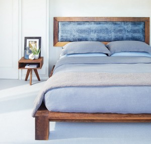 Side-table-that-complements-the-style-of-the-bed