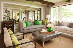 Vase-pillows-and-wall-paint-combine-green-and-yellow-accents-seamlessly