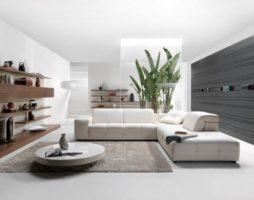 Современный стиль хай-тек в интерьере гостиной