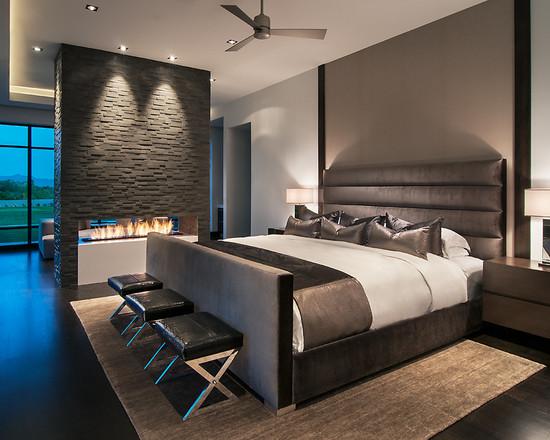 Дизайн спальни современном стиле с