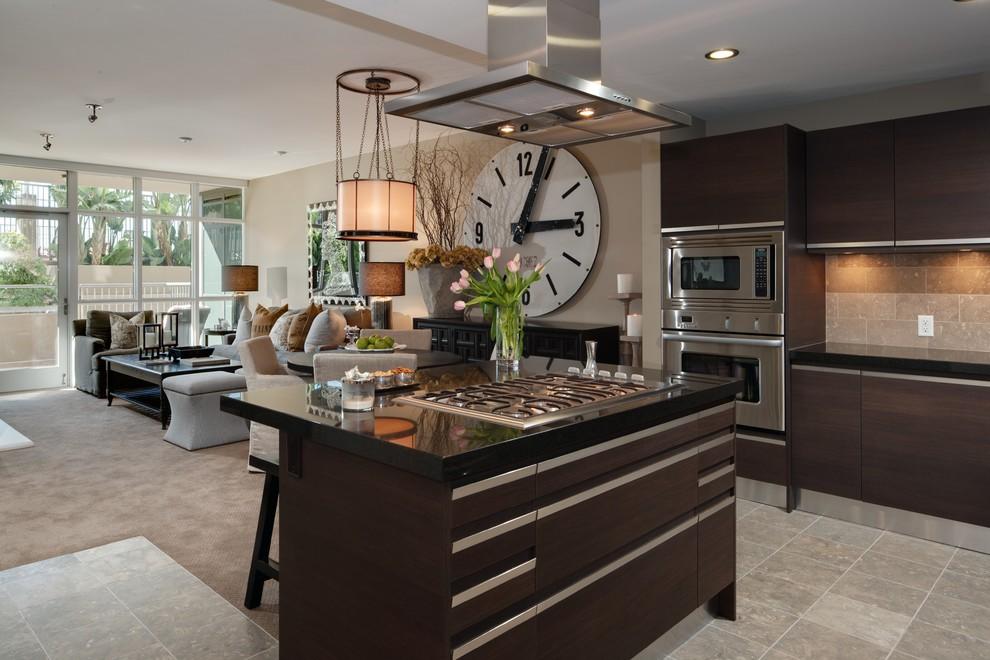 Часы в интерьере кухни: оригинальные настенные кухонные часы (20 фото) →.