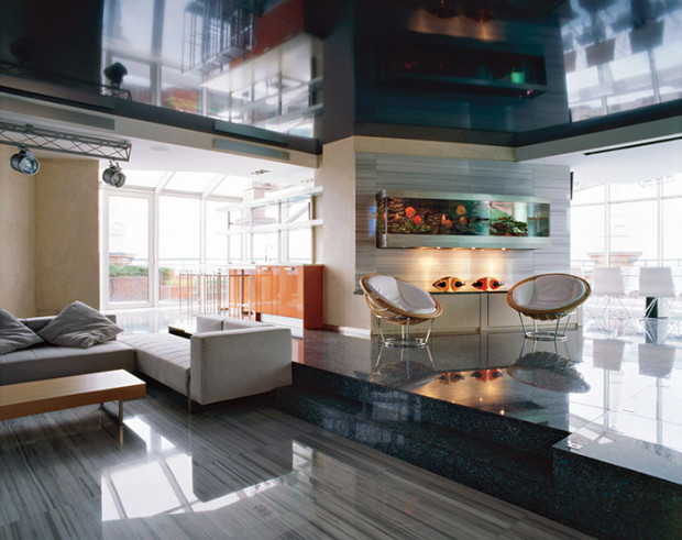 гостиная в стиле хай-тек