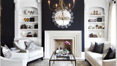 Фоновые решения для гостиной комнаты