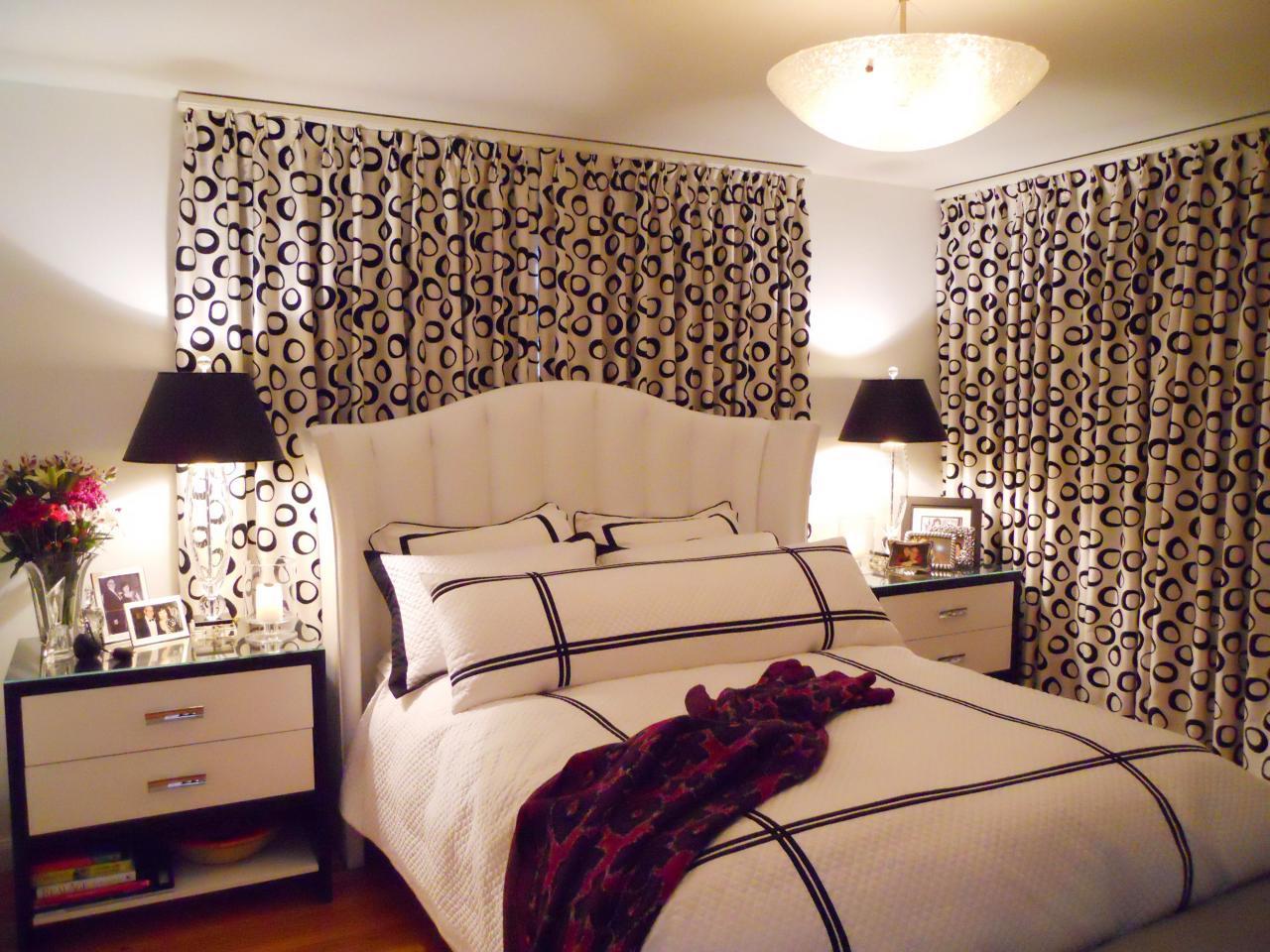 Дизайн штор для спальни - 63 фото примера