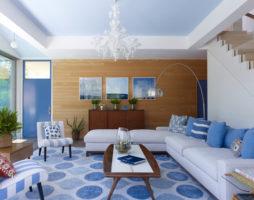 Уют в голубой гостиной