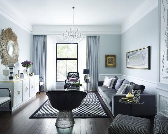 Уют в голубой гостиной - 58 примеров
