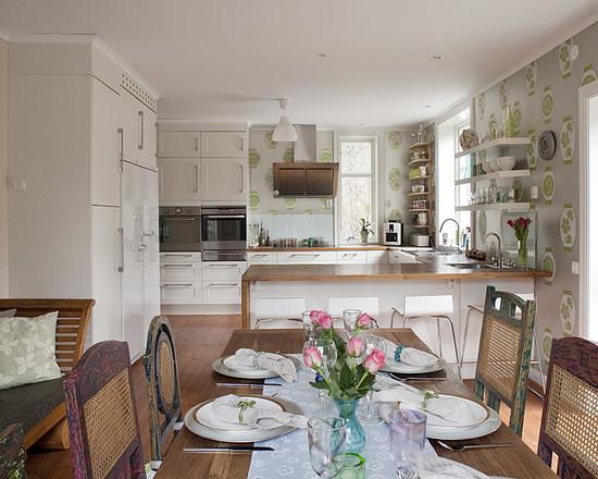 дизайн кухонных обоев