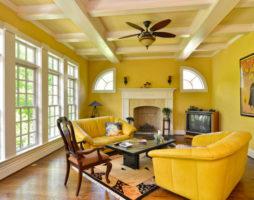 Позитивная гостиная в желтых тонах
