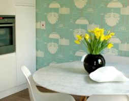 Кухонные обои и их дизайн