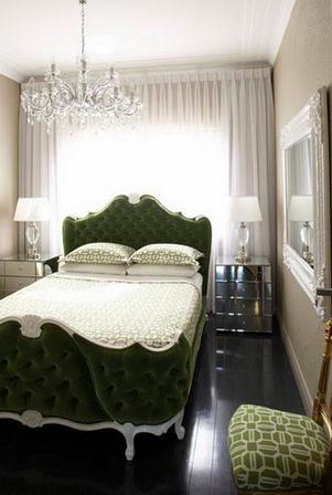 спальни, как единственный предмет мебели в интерьере