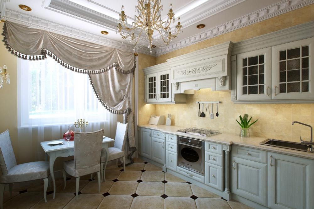 Красивые классические кухни фото интерьеров