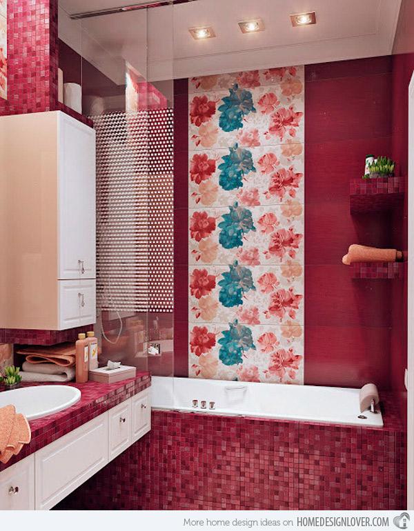 Дизайн ванной комнаты мозаика 2017