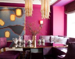 Розовая палитра в интерьерных решениях