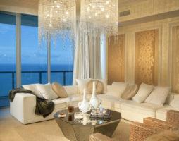 Свет в декоре гостиной