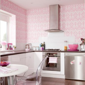 kitchen-wallpaper-ideas-pink-girlie-kitchen