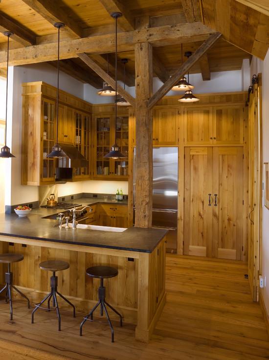 Кухня в деревянном стиле своими руками