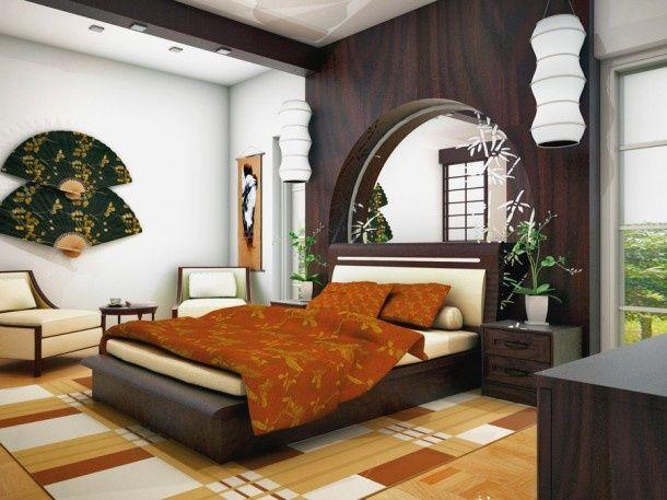 спальня в азиатском стиле