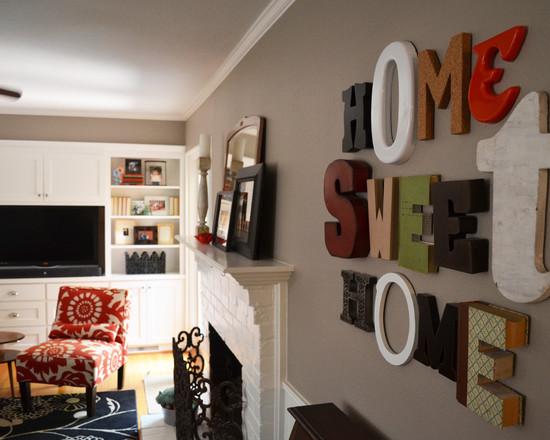 Буквы в домашнем декоре -