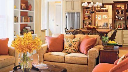 Кантри в гостиной: стилевые разновидности