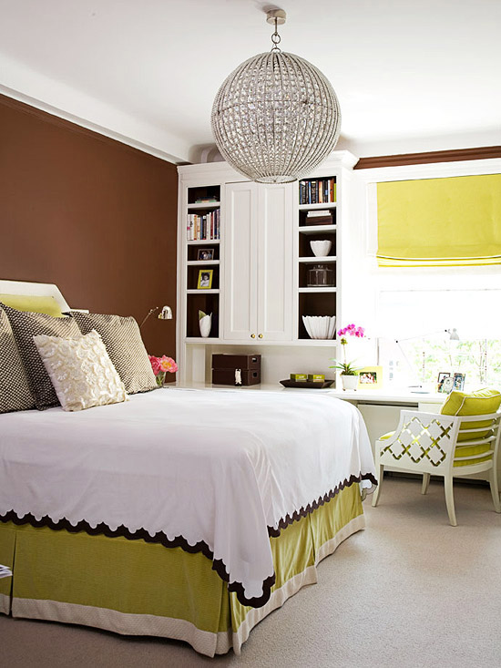 Fresh amp Charming Green amp White  Home  Bedroom green