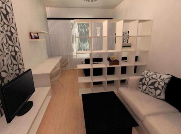 как совместить гостиную и спальню