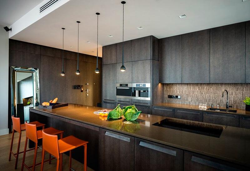 Дизайн кухни хай тек фото 2015 современные идеи