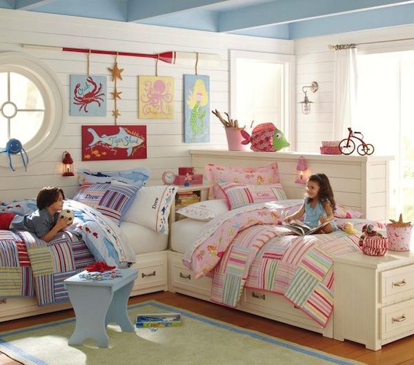 фото дизайн детской для девочки и мальчика
