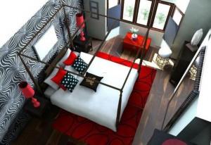 red-white-bedroom